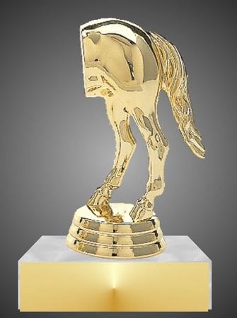 horse rear last place trophy 4quot 5