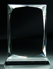 Faceted Crystal Upright Award - 3 Sizes - $65 - $69 - $76