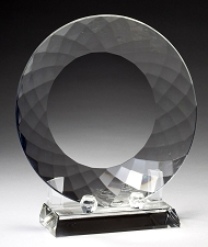Crystal Plate Award with Crystal Stand - 3 Sizes - $74 - $89 - $106