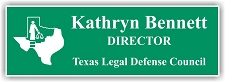 Light Green/White 2-Color Laser Engraved Plastic Name Badge