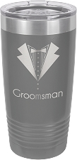 Personalized 20-oz Polar Camel Tumbler - Dark Gray