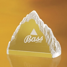 Everest Crystal Paperweight - 3 Sizes - $70 - $115 - $160
