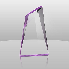Purple Summit Acrylic Award - 3 Sizes - $51 - $65 - $82