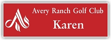 Red/White 2-Color Laser Engraved Plastic Name Badge