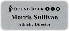 Silver/Black Metal Name Badge