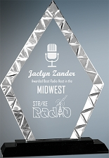 Diamond Accented Glass Award - 3 Sizes - $48 - $63