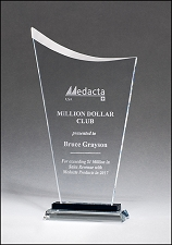 Clear Contemporary Glass Award - 3 Sizes - $42 - $45 - $48
