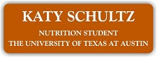 UT Nutrition 1 x 3 Name Badge