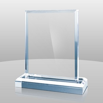 Large Blue Vertical Rectangle Acrylic Award - 6 x 7 x 2 - OVERSTOCK SPECIAL (regularly $40)
