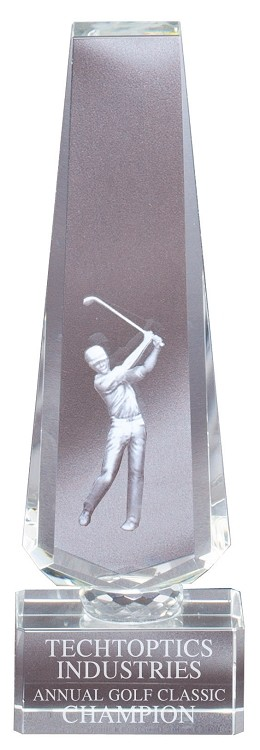 3D Crystal Obelisk Golf Award - $69 - $74 - $83 (Includes Engraving)