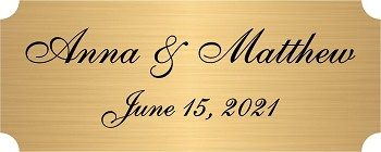 Engraved/Imprinted Plate - Many Sizes & Colors - Starting at $1.00