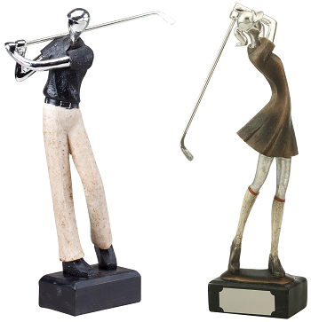 Modern Golf Resin Trophy, 12.5""