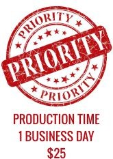 Priority Service - 1 Business Day Production Time